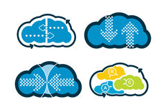 Cloud technology - communication concept Stock Photography