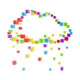 Cloud technology computing icon made Stock Photos