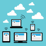 Cloud technology Stock Photos