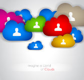 Cloud Technology concept background Royalty Free Stock Image