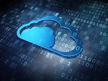 Cloud technology concept: Blue Cloud Royalty Free Stock Photos