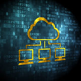 Cloud technology concept: Cloud Network on digital background Royalty Free Stock Image