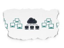 Cloud technology concept: cloud network icon on Stock Image