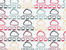 Cloud technology concept: Cloud Network icons on Stock Photos