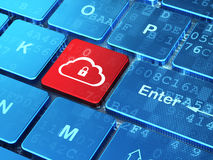 Cloud technology concept: Cloud With Padlock on Royalty Free Stock Photos