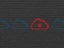 Cloud technology concept: cloud with padlock icon Royalty Free Stock Photo