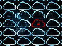 Cloud technology concept: cloud with padlock icon Royalty Free Stock Images