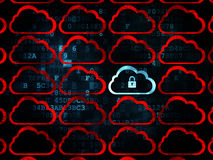 Cloud technology concept: cloud with padlock icon Royalty Free Stock Photography