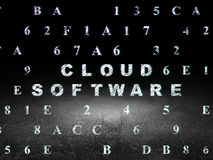 Cloud technology concept: Cloud Software in grunge Royalty Free Stock Images