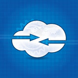 Cloud technology concept design abstract background Stock Image