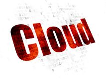 Cloud technology concept: Cloud on Digital background Royalty Free Stock Image