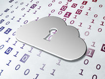 Cloud technology concept: Golden Cloud With Stock Photography