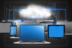 Cloud Technology Concept Royalty Free Stock Photography