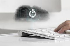 Cloud technology concept Stock Images