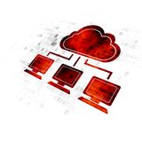 Cloud technology concept: Cloud Network on Digital background Stock Photos