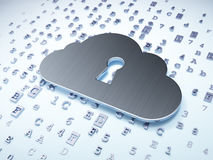 Cloud technology concept: Silver Cloud With Stock Photography