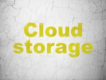 Cloud technology concept: Cloud Storage on wall background Stock Image