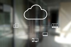 Cloud technology. Data storage. Networking and internet service concept.  stock photo