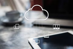 Cloud technology. Data storage. Networking and internet service concept. Cloud technology. Data storage. Networking and internet service concept Royalty Free Stock Photos