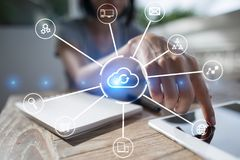 Cloud technology. Data storage. Networking and internet service concept. Cloud technology. Data storage. Networking and internet service concept Royalty Free Stock Images