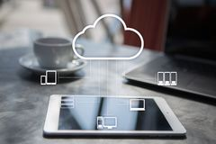 Cloud technology. Data storage. Networking and internet service concept. Cloud technology. Data storage. Networking and internet service concept Royalty Free Stock Image