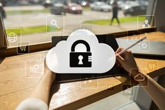 Cloud technology. Data storage. Networking and internet service concept. Cloud technology. Data storage. Networking and internet service concept Stock Photos