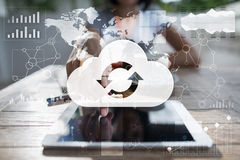 Cloud technology. Data storage. Networking and internet service concept. Royalty Free Stock Photography