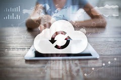 Cloud technology. Data storage. Networking and internet service concept. Cloud technology. Data storage. Networking and internet service concept Royalty Free Stock Photo