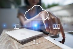 Cloud technology. Data storage. Networking and internet service concept. Stock Images
