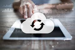Cloud technology. Data storage. Networking and internet service concept. Cloud technology. Data storage. Networking and internet service concept Stock Photo