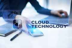 Cloud technology. Data storage. Networking and internet service concept. Cloud technology. Data storage. Networking and internet service concept stock photography
