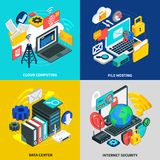 Cloud Technology 2x2 Design Concept Royalty Free Stock Images