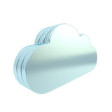 Cloud technology disk space emblem icon Royalty Free Stock Image