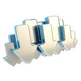 Cloud technology emblem icon tag made of arrows Royalty Free Stock Photography