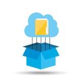 Cloud technology folder file connection design Stock Images