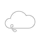 Cloud technology icon. Cloud download, linear icon. One of a set of linear web icons Royalty Free Stock Photo