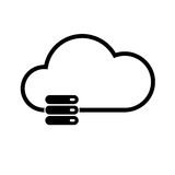 Cloud technology icon Royalty Free Stock Photos