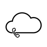 Cloud technology icon. Cloud download, linear icon. One of a set of linear web icons Stock Image