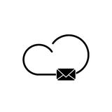 Cloud technology icon. Cloud download, linear icon. One of a set of linear web icons Royalty Free Stock Photos