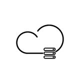 Cloud technology icon. Cloud download, linear icon. One of a set of linear web icons Stock Photo