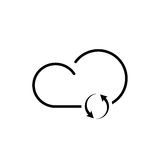 Cloud technology icon. Cloud download, linear icon. One of a set of linear web icons Stock Photography