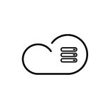 Cloud technology icon. Cloud download, linear icon. One of a set of linear web icons Royalty Free Stock Photography