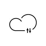 Cloud technology icon. Cloud download, linear icon. One of a set of linear web icons Royalty Free Stock Images