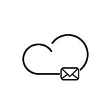 Cloud technology icon Royalty Free Stock Images