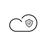Cloud technology icon Royalty Free Stock Image