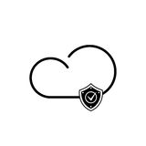 Cloud technology icon. Cloud download, linear icon. One of a set of linear web icons Stock Images
