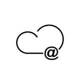 Cloud technology icon. Cloud download, linear icon. One of a set of linear web icons Royalty Free Stock Image