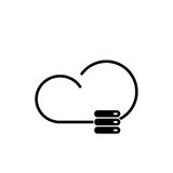 Cloud technology icon Stock Images
