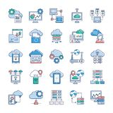 Cloud Technology Icons stock illustration