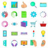 Cloud technology icons set, cartoon style. Cloud technology icons set. Cartoon set of 25 cloud technology vector icons for web isolated on white background Royalty Free Stock Photo